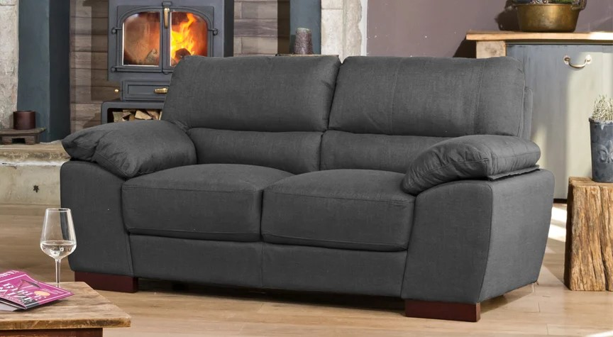dark grey de vere sofa for small rooms