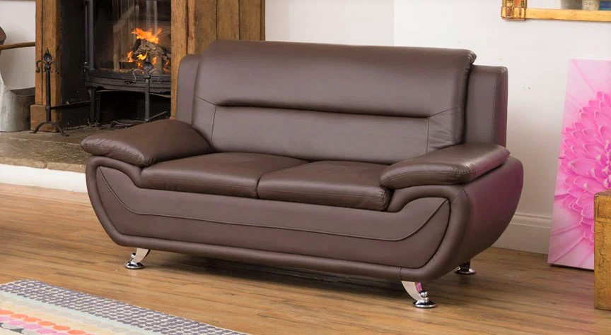brown gresham 2 seater sofa