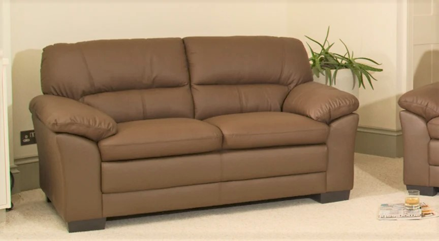 brown rosedale leather sofa