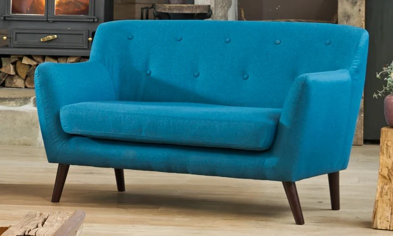 selborne 2 seater sofa teal colour