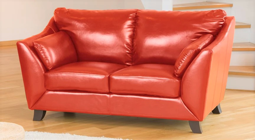 red verona leather 2 seater