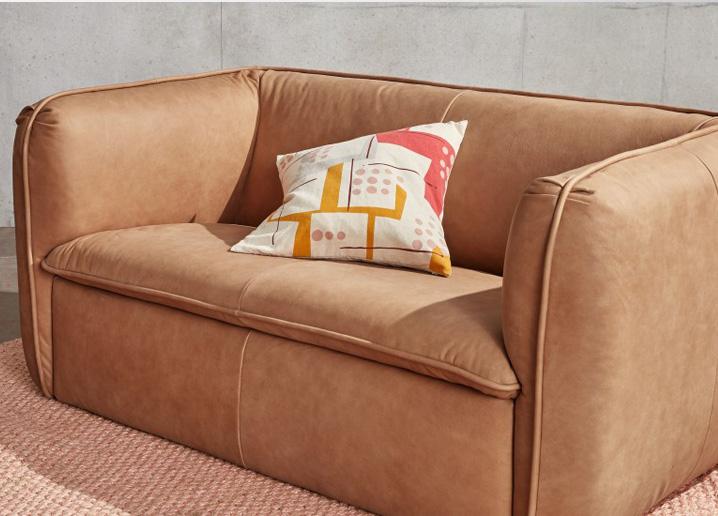 berko slimline leather sofa